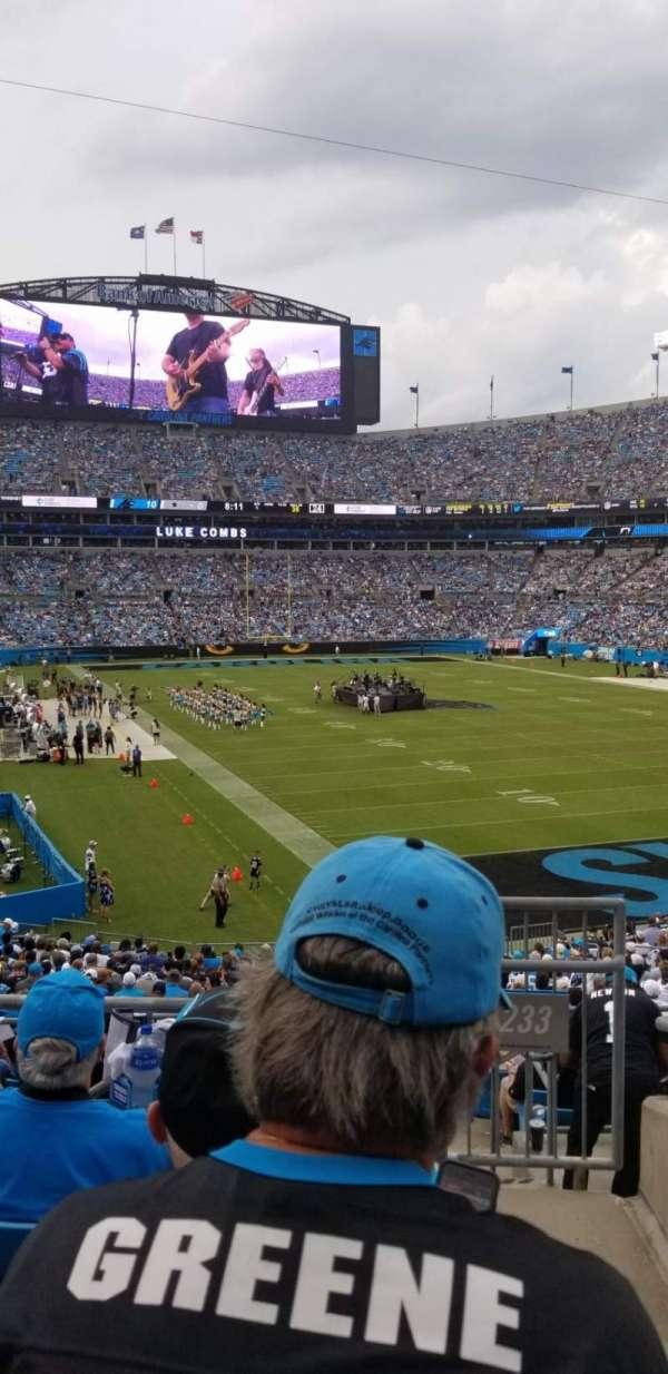 Bank of America Stadium, sección: 233, fila: 4, asiento: 7
