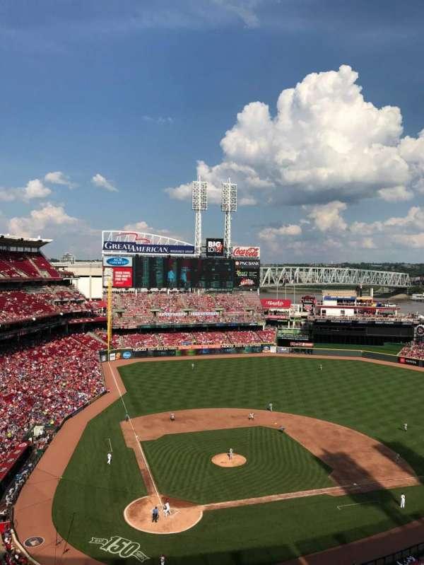 Great American Ball Park, sección: 527, fila: F, asiento: 19