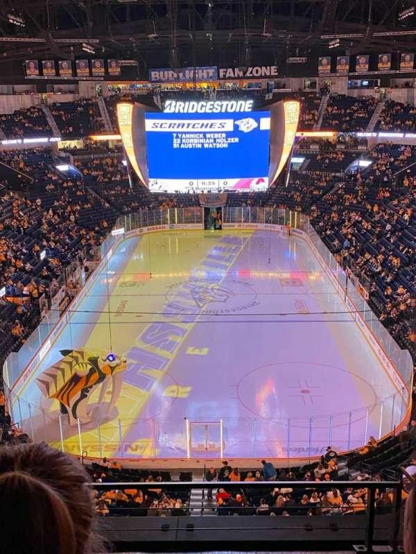 Bridgestone Arena, sección: 301, fila: C, asiento: 12