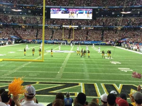 Georgia Dome, sección: 125, fila: 9, asiento: 8