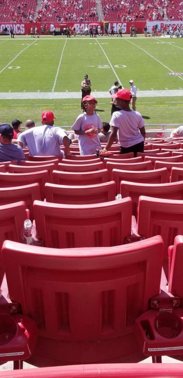 Raymond James Stadium, sección: 133, fila: S, asiento: 17