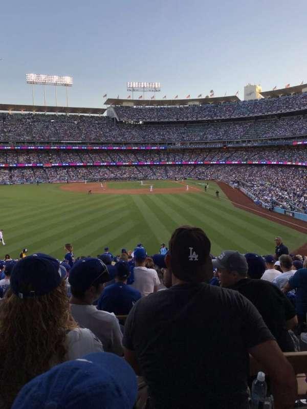 Dodger Stadium, sección: 303PL, fila: Y, asiento: 4
