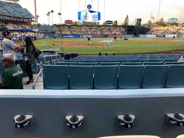 Dodger Stadium, sección: 6FD, fila: B, asiento: 3