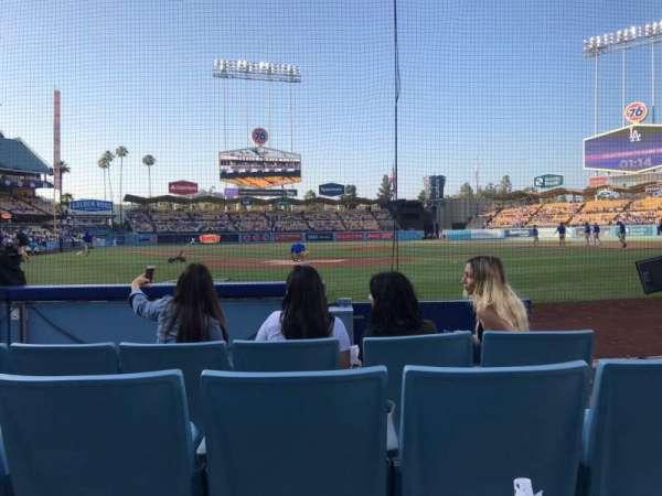 Dodger Stadium, sección: 1DG, fila: EE, asiento: 16