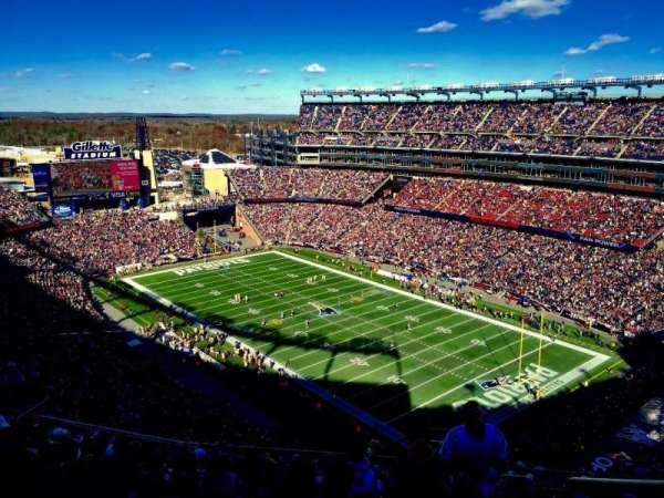Gillette Stadium, sección: 324, fila: 19, asiento: 1