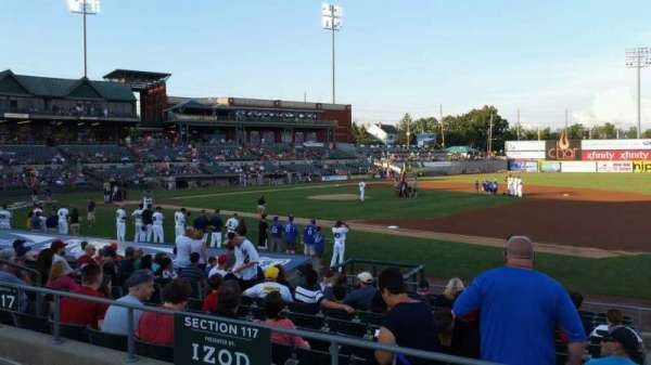 TD Bank Ballpark, sección: 215, fila: K, asiento: 8