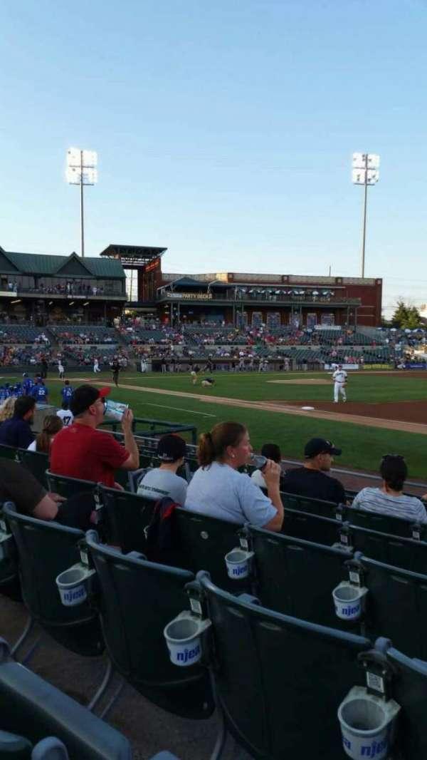 TD Bank Ballpark, sección: 119, fila: I, asiento: 4