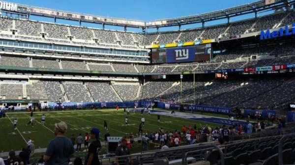MetLife Stadium, sección: 139, fila: 18, asiento: 6
