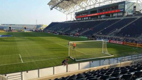 Talen Energy Stadium, sección: 116, fila: K, asiento: 20