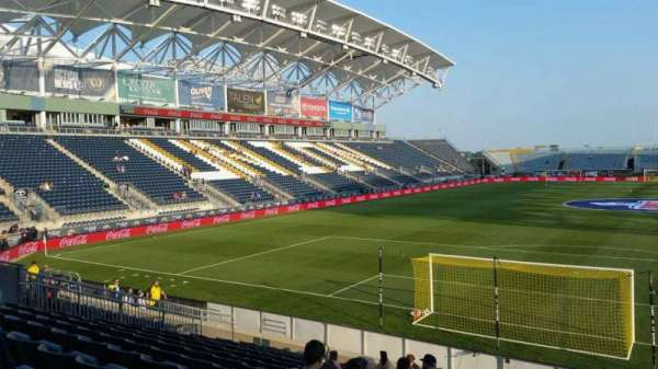 Talen Energy Stadium, sección: 117, fila: K, asiento: 1