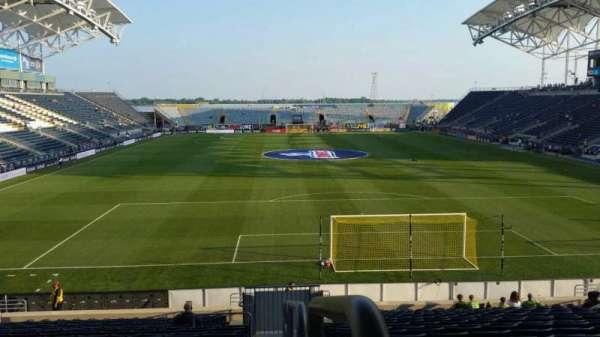 Talen Energy Stadium, sección: 118, fila: W, asiento: 1
