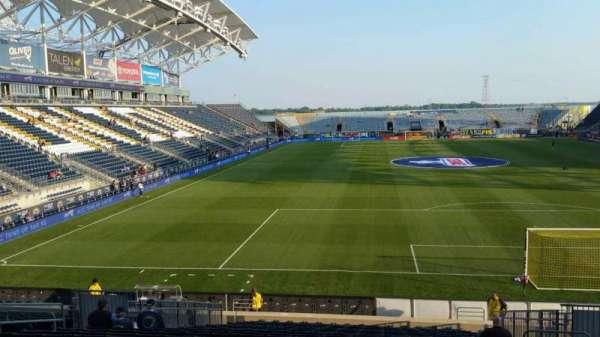 Talen Energy Stadium, sección: 118, fila: W, asiento: 10