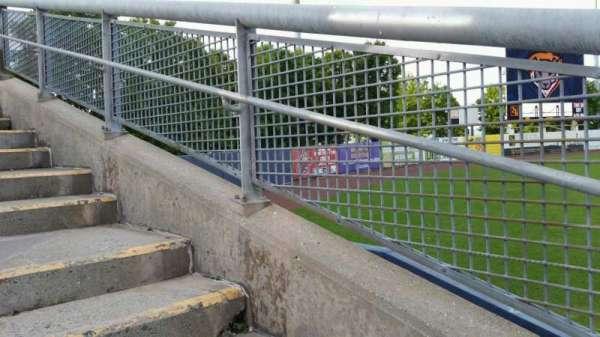 Richmond County Bank Ballpark, sección: 1, fila: F, asiento: 19
