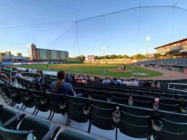 Northeast Delta Dental Stadium, sección: 107, fila: M, asiento: 8