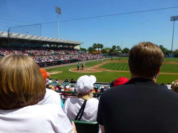 Ed Smith Stadium, sección: 210, fila: 4, asiento: 3