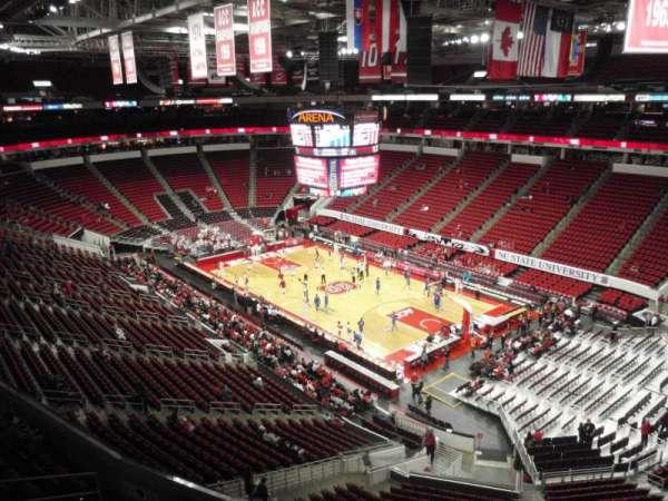 PNC Arena, sección: 337, fila: A, asiento: 6