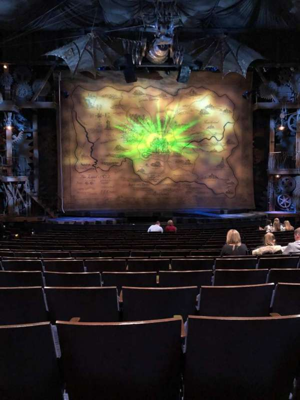 Gershwin Theatre, sección: Orchestra C, fila: N, asiento: 108