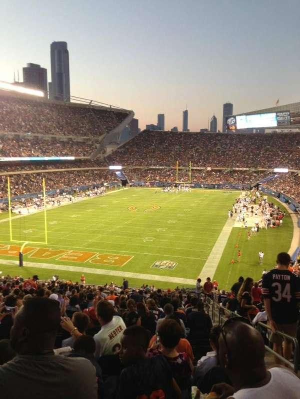 Soldier Field, sección: 220, fila: 21, asiento: 18