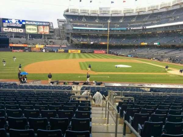 Yankee Stadium, sección: 125, fila: 25, asiento: 1