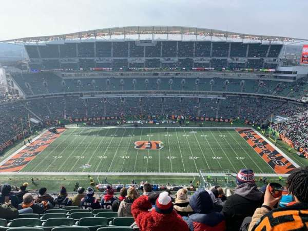Paul Brown Stadium, sección: 340, fila: 23, asiento: 6