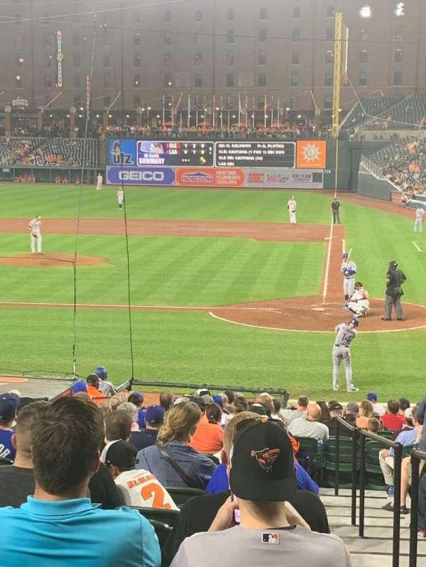 Oriole Park at Camden Yards, sección: 46, fila: 22, asiento: 1