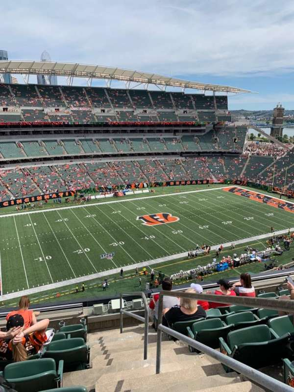 Paul Brown Stadium, sección: 314, fila: 7, asiento: 1