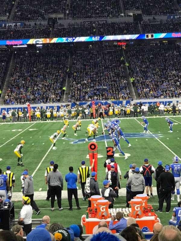 Ford Field, sección: 106, fila: 5, asiento: 7