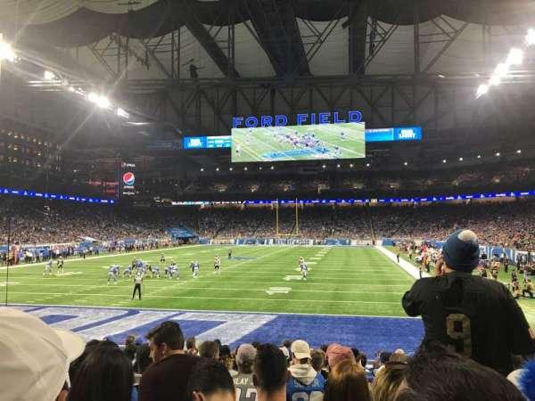 Ford Field, sección: 118, fila: 12, asiento: 11