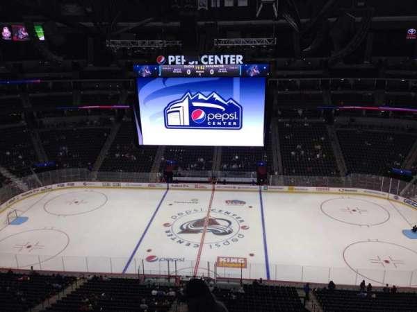 Pepsi Center, sección: 342, fila: 10, asiento: 1