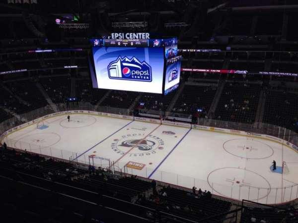 Pepsi Center, sección: 338, fila: 10, asiento: 1