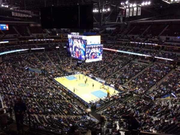Pepsi Center, sección: 330, fila: 12, asiento: 1