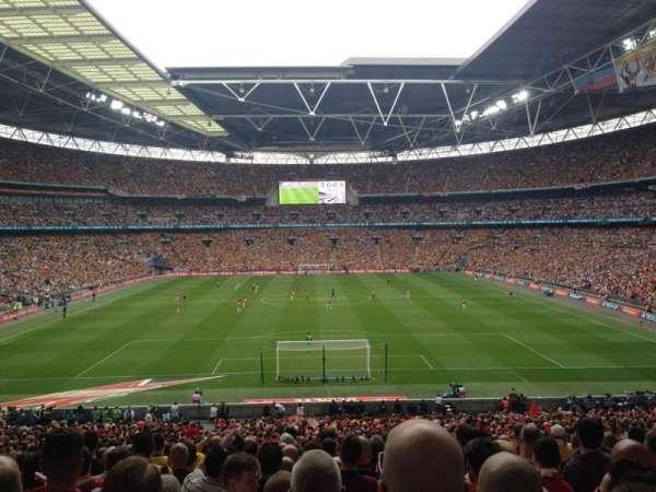Wembley Stadium, sección: 134, fila: 43, asiento: 1