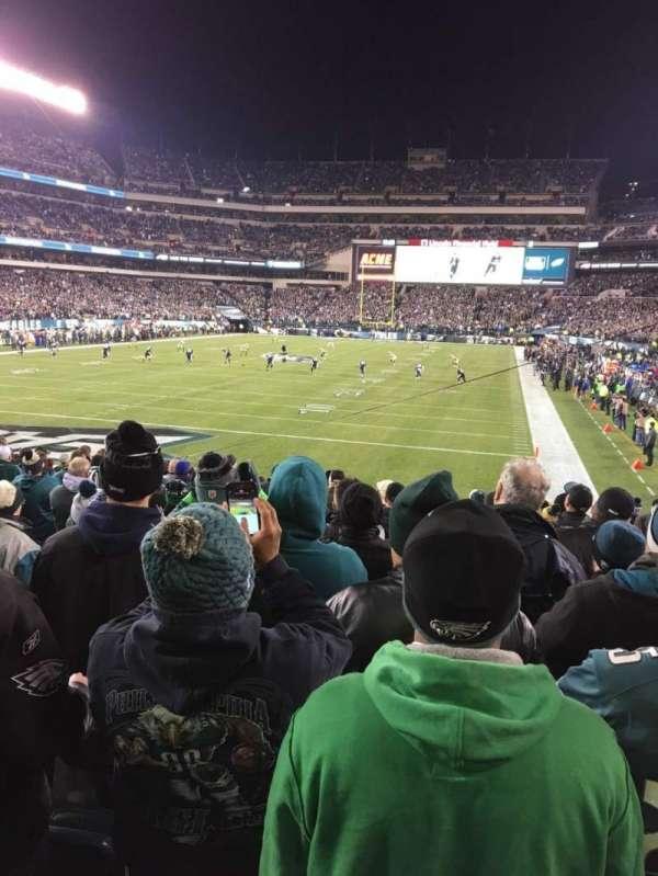 Lincoln Financial Field, sección: 131, fila: 16, asiento: 9