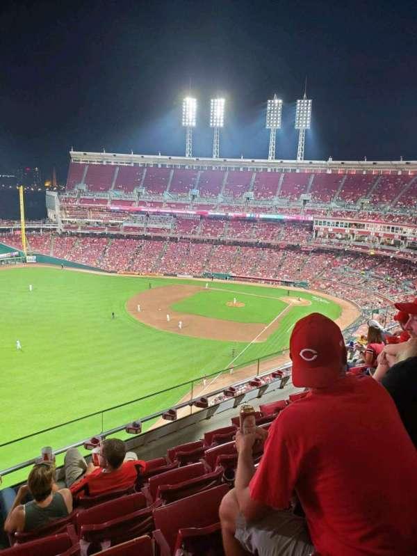 Great American Ball Park, sección: 510, fila: E, asiento: 19