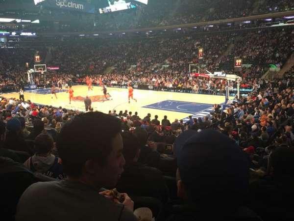 Madison Square Garden, sección: 109, fila: 9, asiento: 13