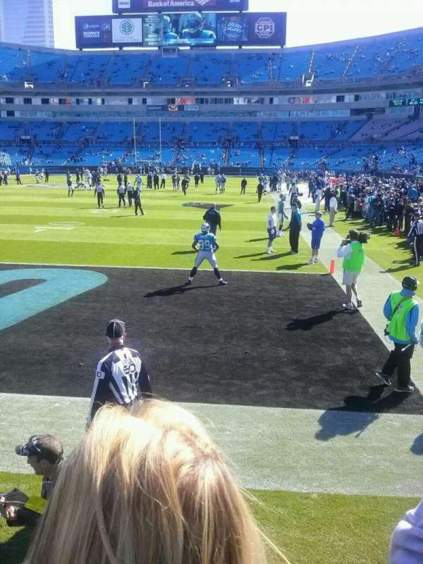 Bank of America Stadium, sección: 139, fila: 17, asiento: 21
