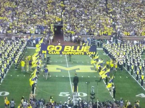 Michigan Stadium, sección: 23, fila: 46