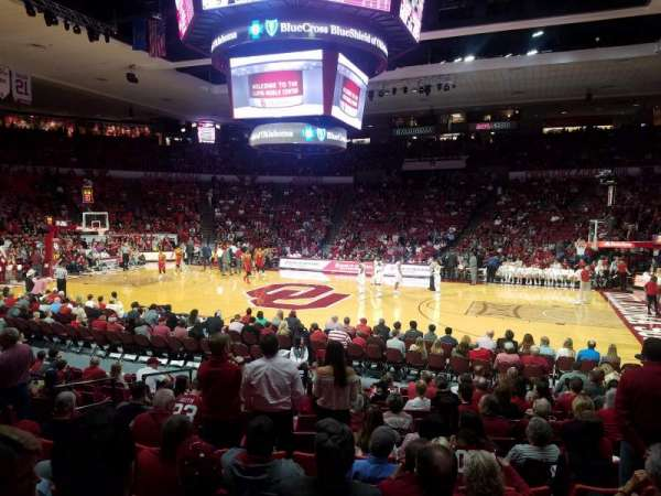 Lloyd Noble Center, sección: LW2, fila: 10, asiento: 3