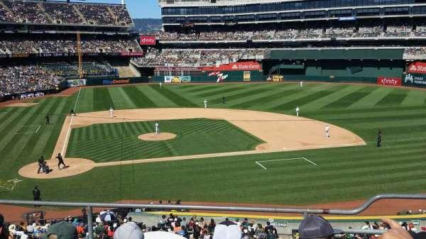 Oakland Coliseum, sección: 214, fila: 4, asiento: 6