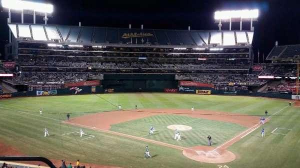 Oakland Coliseum, sección: 218, fila: 3, asiento: 21