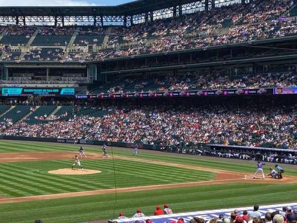 Coors Field, sección: 140, fila: 28, asiento: 11