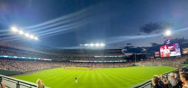 Coors Field, sección: 106, fila: 4, asiento: 1