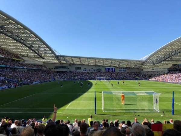 American Express Community Stadium, sección: S1E, fila: P, asiento: 854
