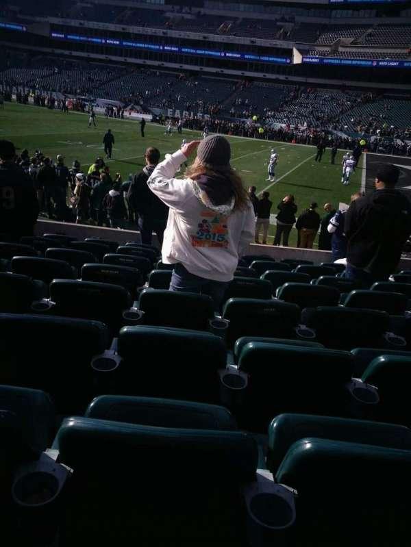 Lincoln Financial Field, sección: 124, fila: 9, asiento: 16