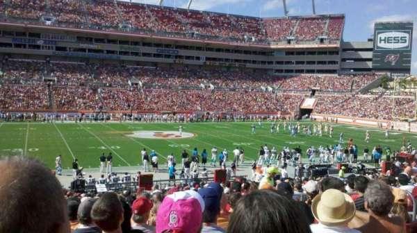 Raymond James Stadium, sección: 134, fila: Bb, asiento: 15