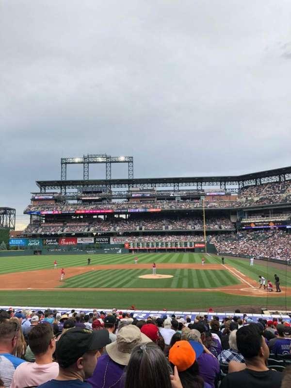 Coors Field, sección: 136, fila: 26, asiento: 8