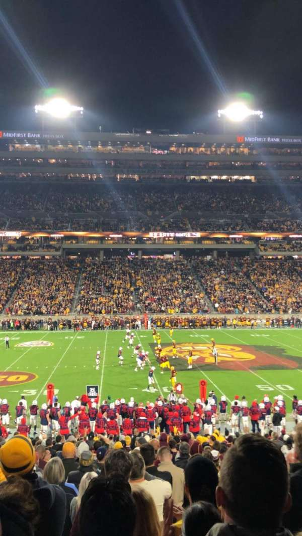 Sun Devil Stadium, sección: 30, fila: 27, asiento: 8