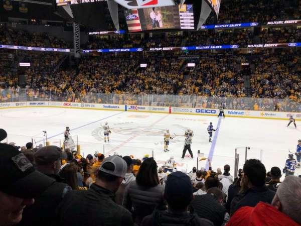 Bridgestone Arena, sección: 116, fila: C, asiento: 4
