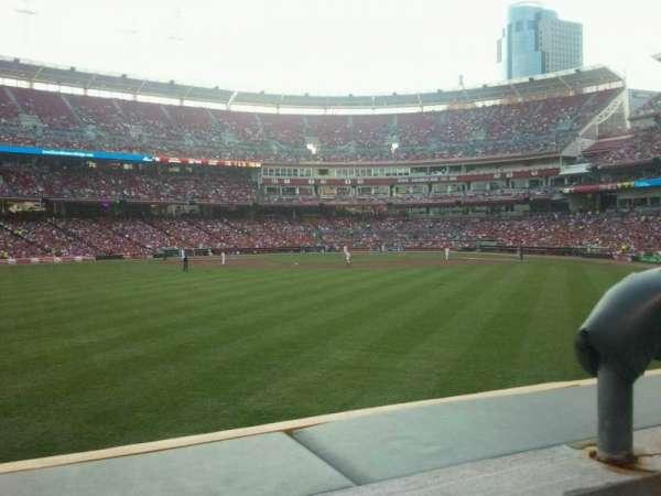 Great American Ball Park, sección: 101, fila: 1, asiento: 2