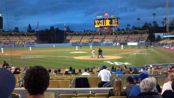 Dodger Stadium, sección: Field box mvp 3, fila: H, asiento: 8